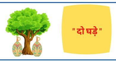 दो घडे़ हिंदी कहानी